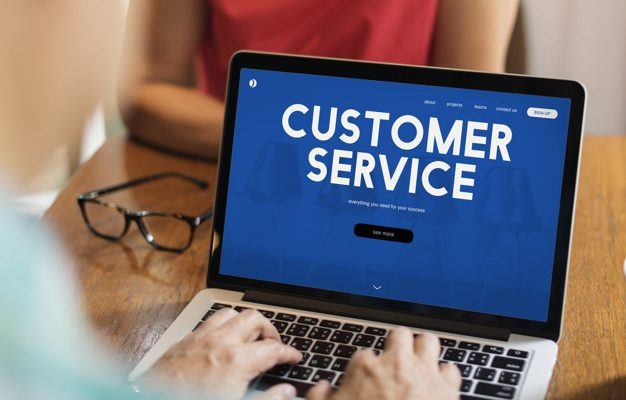 Customer care webpage interface word